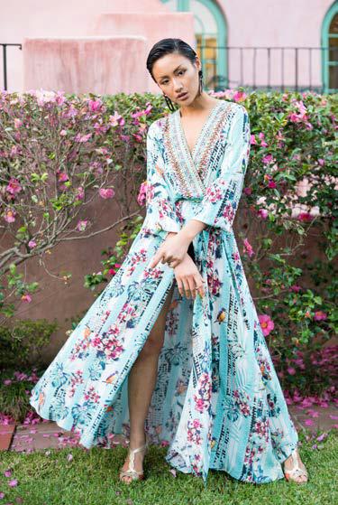 Inoa silk print maxi dress