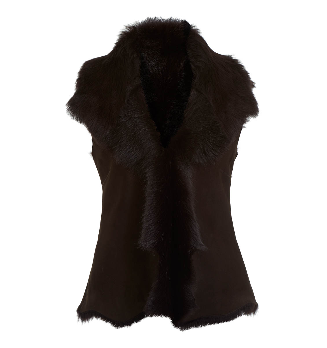 Leather Classics brown gilet
