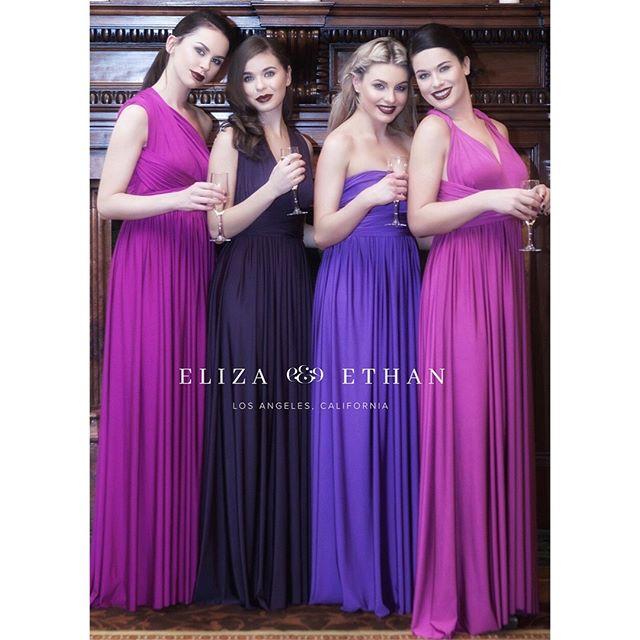 💜💜 Beautiful purples from Eliza & Ethan 💜💜 #elizaandethan #wrapdress #multiwaydress #bridesmaidsdress #purple #maxidress #style #luxury #fashion #kingsroad #musekingsroad