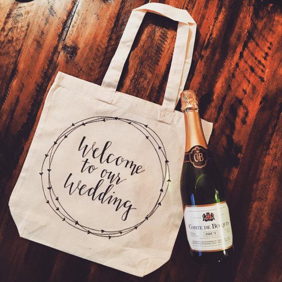 Wedding guest welcome bag