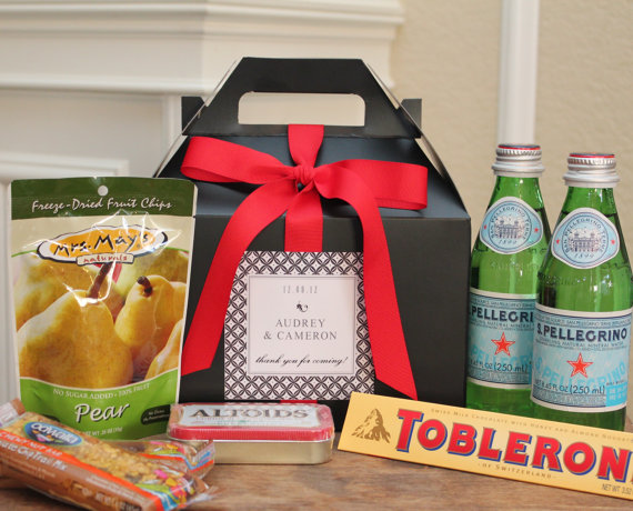 Wedding guest welcome box