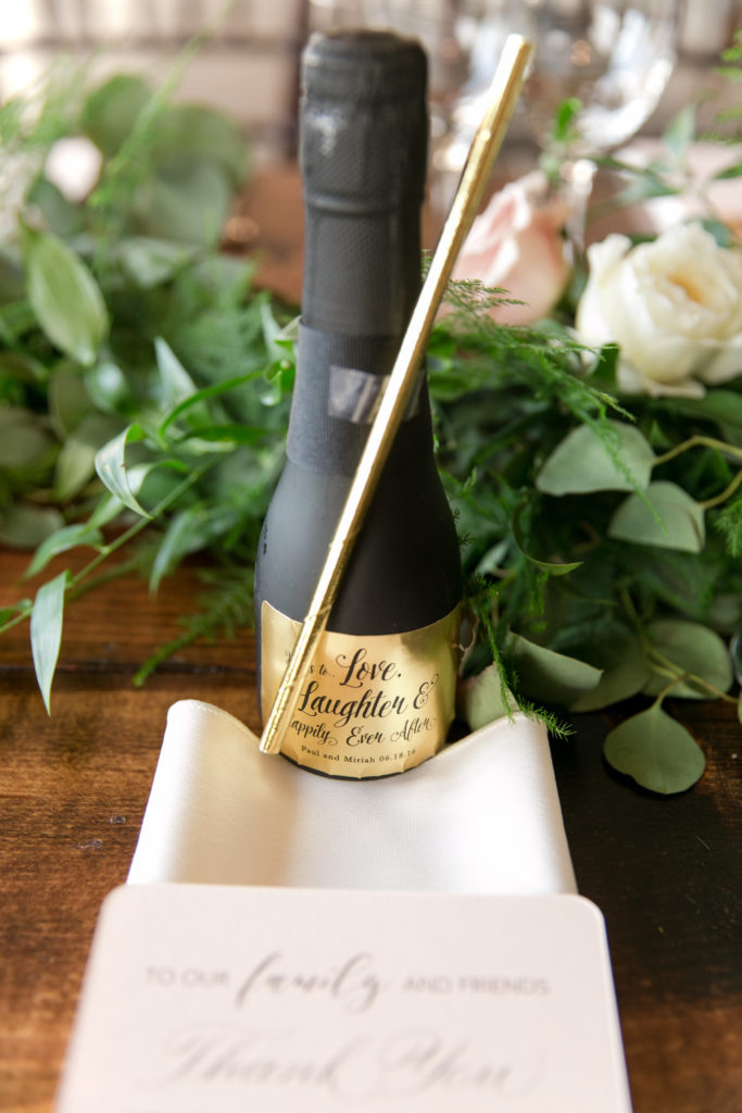 Love these mini champagne favors!