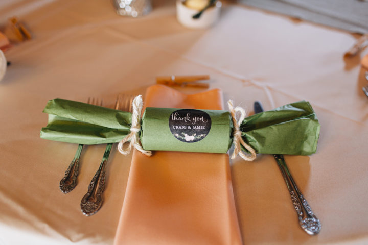 These popper wedding favors were a hit and were fun! When you pulled them candy popped out!