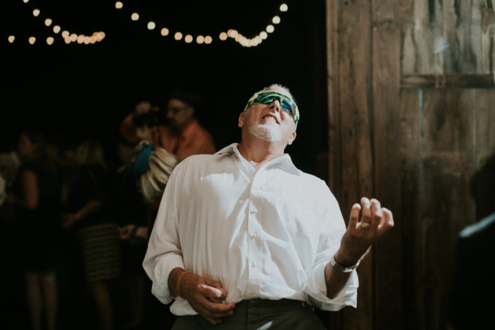 This father of the bride had a blast!
