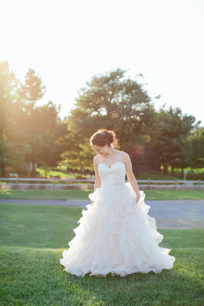 This dress fit Danielle's spunky personality perfectly! Photo from Kelly Lapp Photography.