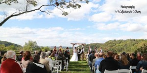 Erica and Kevin are both outdoorsy people so they wanted a ceremony location that incorporated the outdoors. They chose a local park for their wedding ceremony and then had their reception at another location.