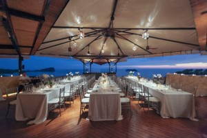 Gorgeous rooftop reception.