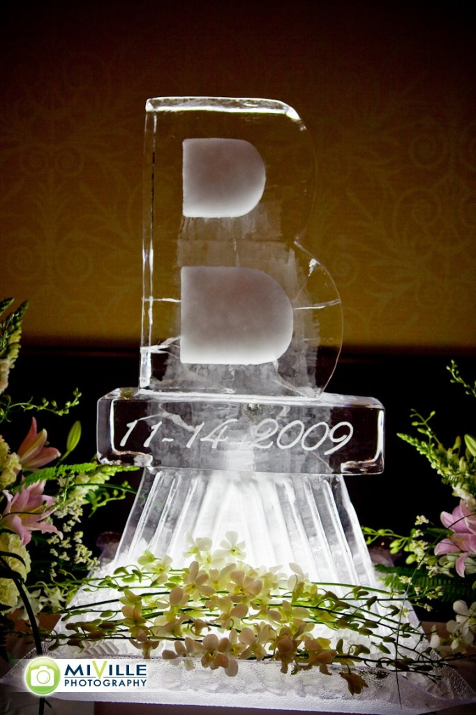 A beautiful ice sculpture.