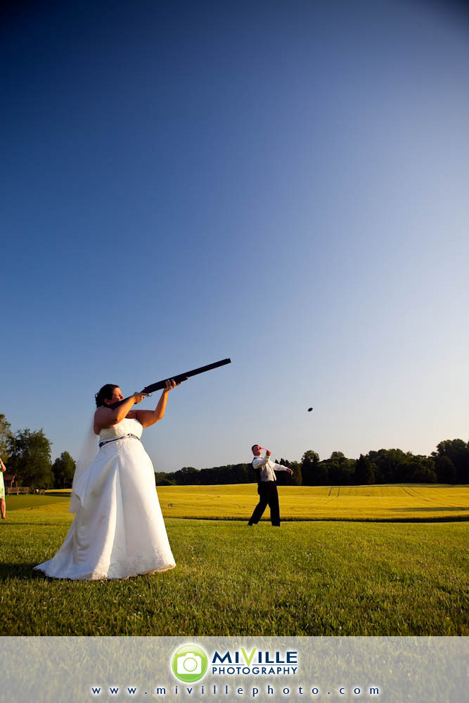 Even the bride shot a gun! I was impressed!