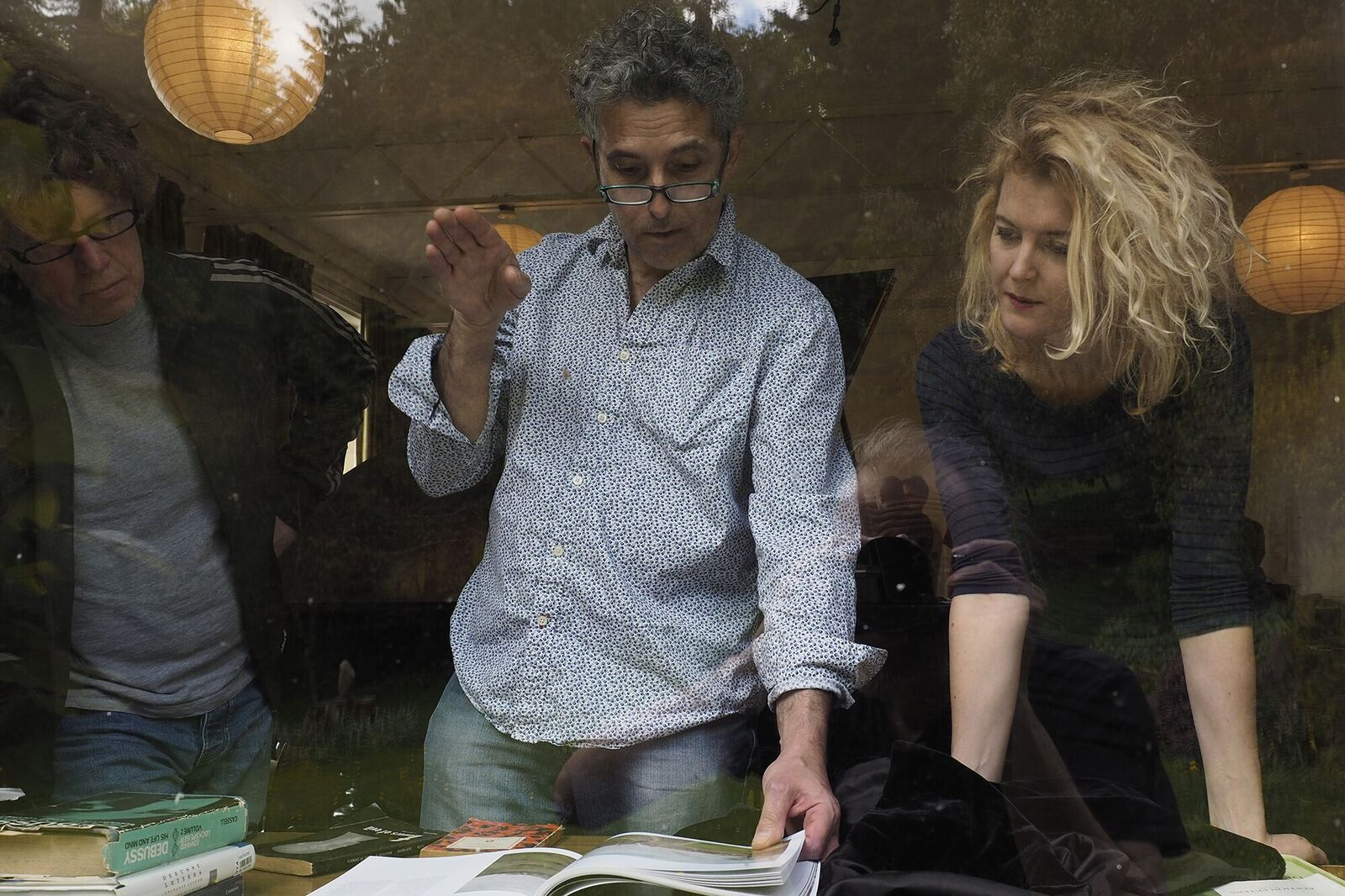 Martin, Steve and Alcyona take a break