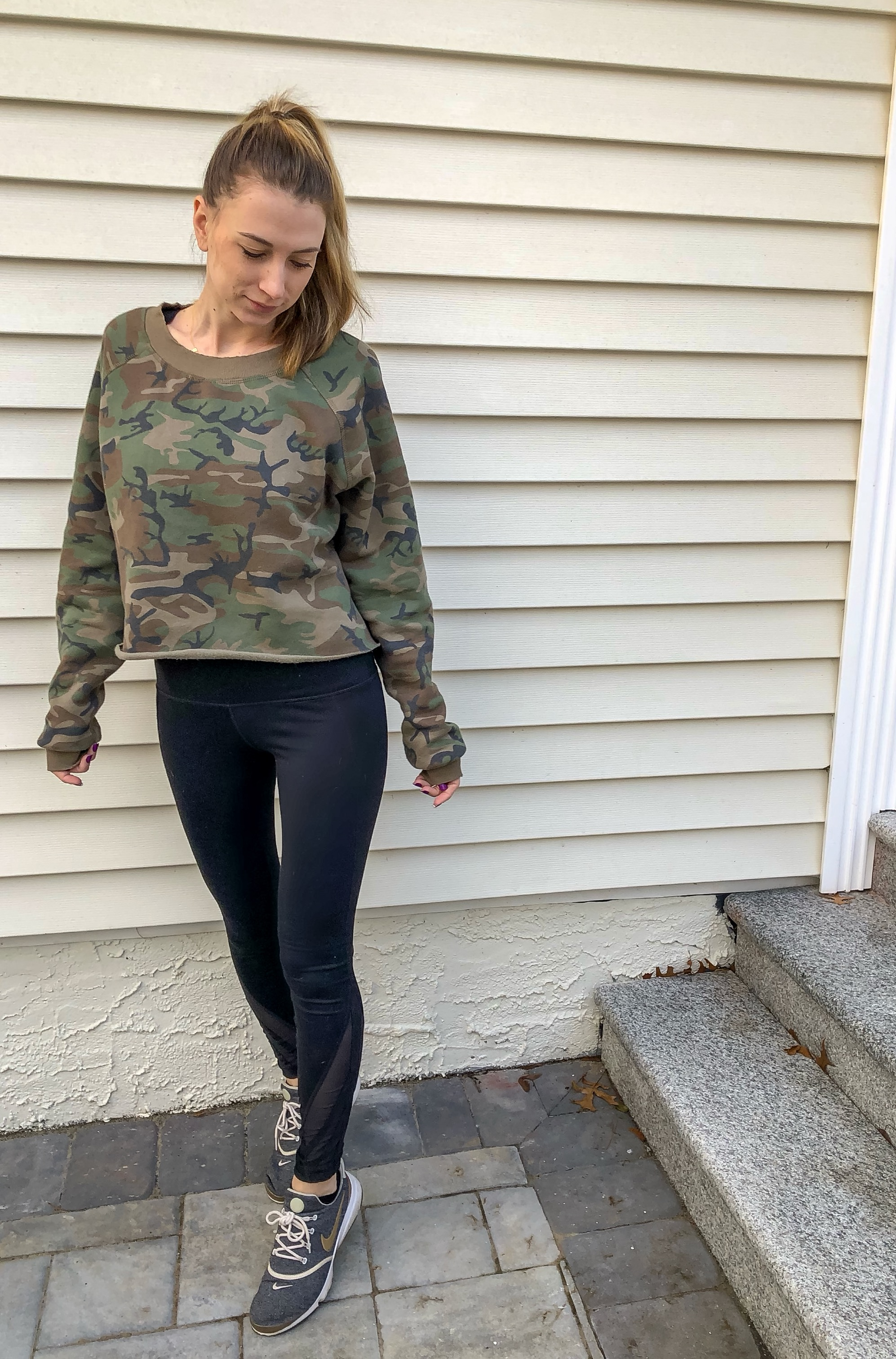 SHOP THIS CAMO CROPPED SWEATSHIRT BELOW! On SALE!