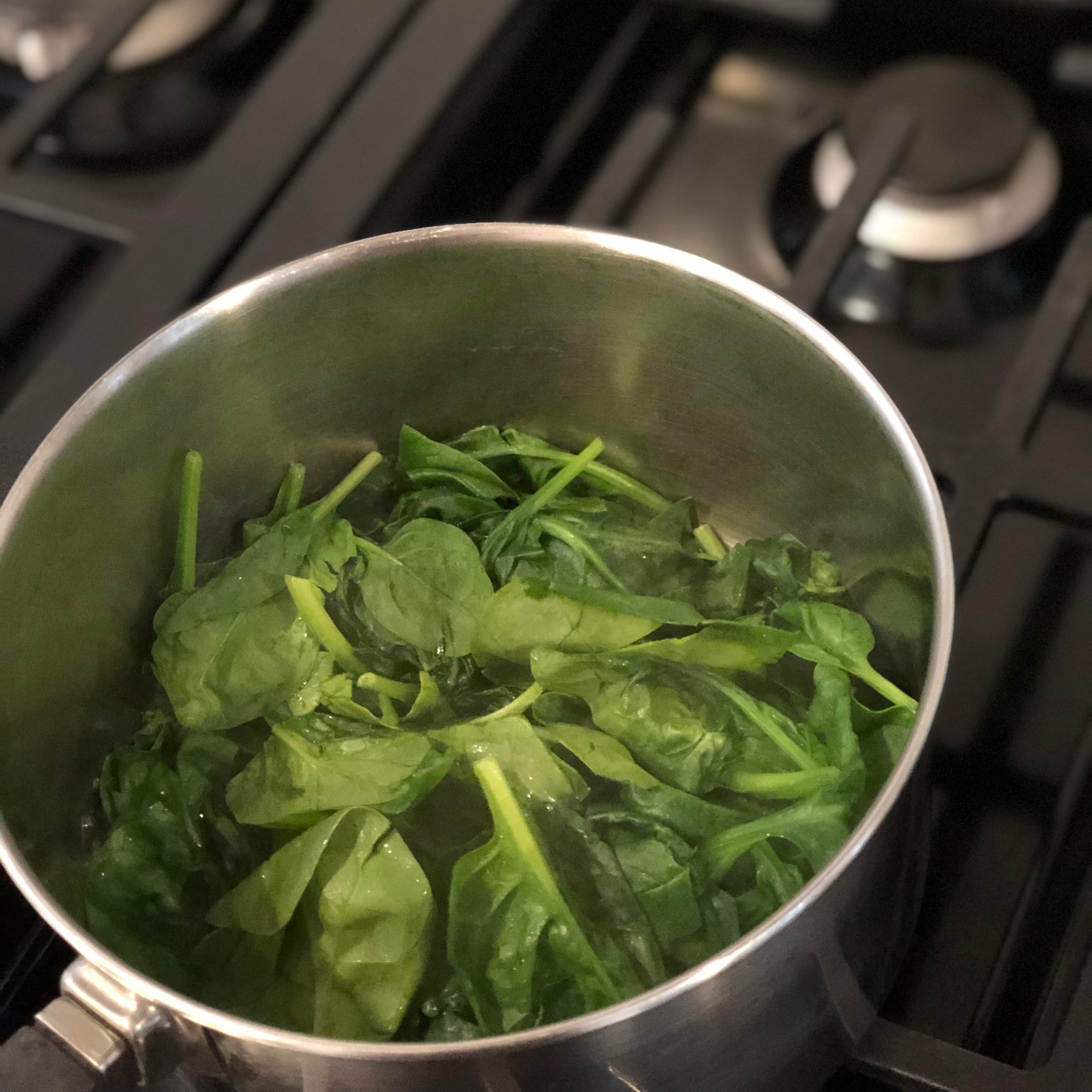 - Step 1:First, cook the spinach until it is slightly wilted. Drain, cool, and chop. Then set aside.