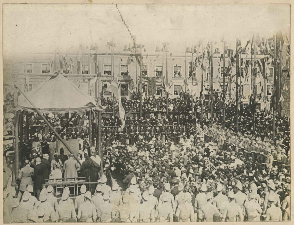 Laying foundation stone June 1890-1.jpg