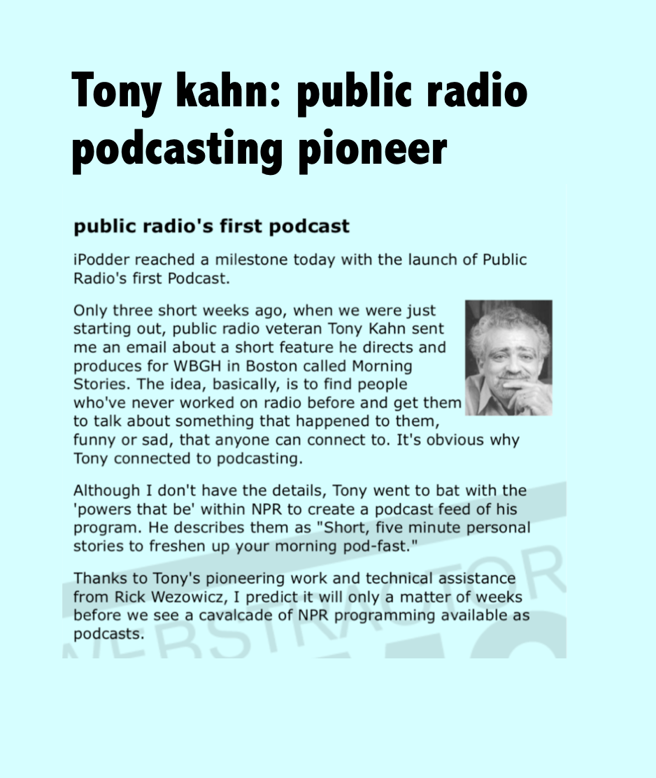 """From Adam Curry's """"Daily Source Code."""" Podcasting was the brain-child of Curry, a former MTV V-Jay and Dave Winer, a software entrepreneur and creator of the """"RSS Feed."""""""