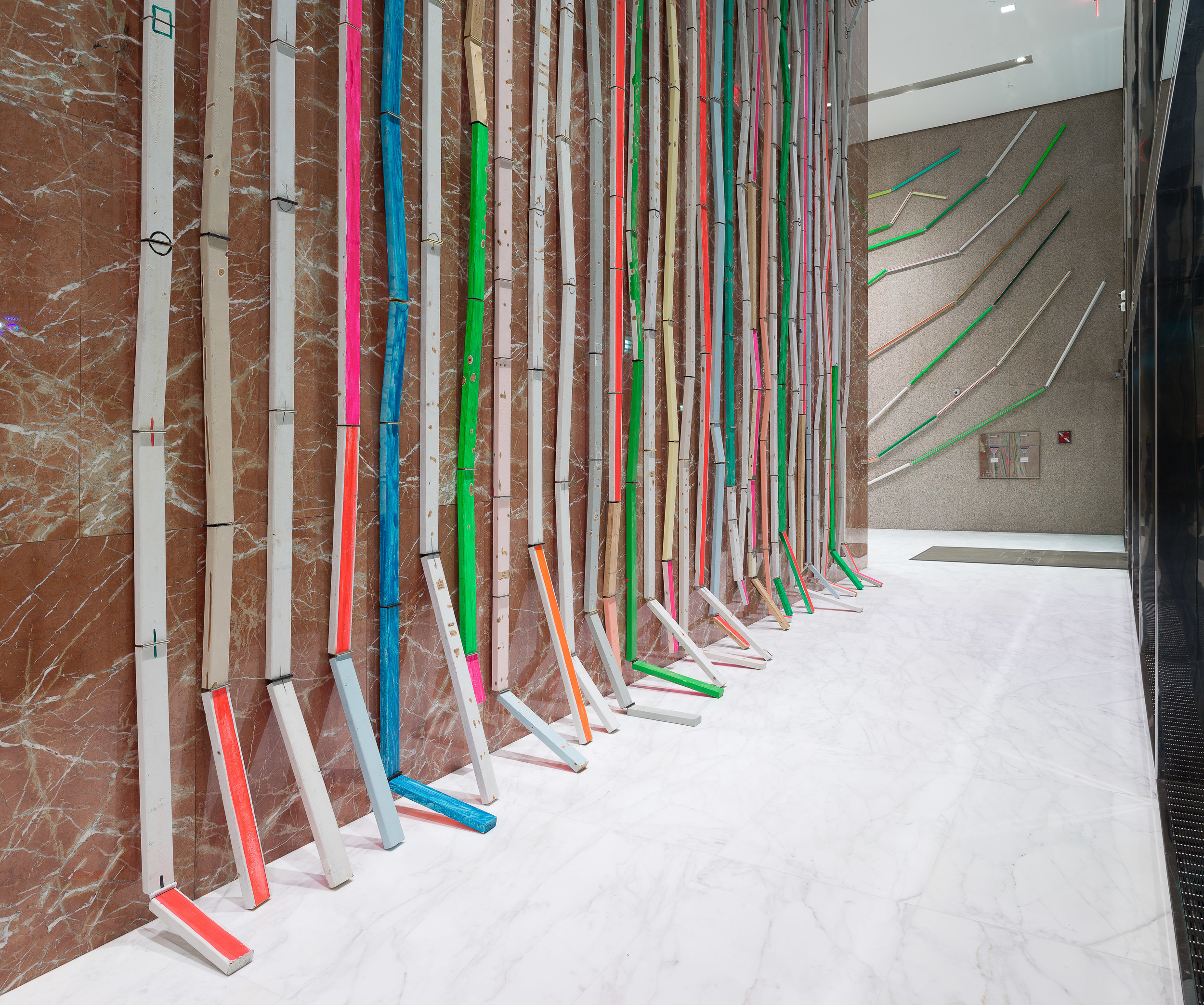 (4) Cordy Ryman-Installation view detail-2017-Tower 49-west lobby looking east.jpg