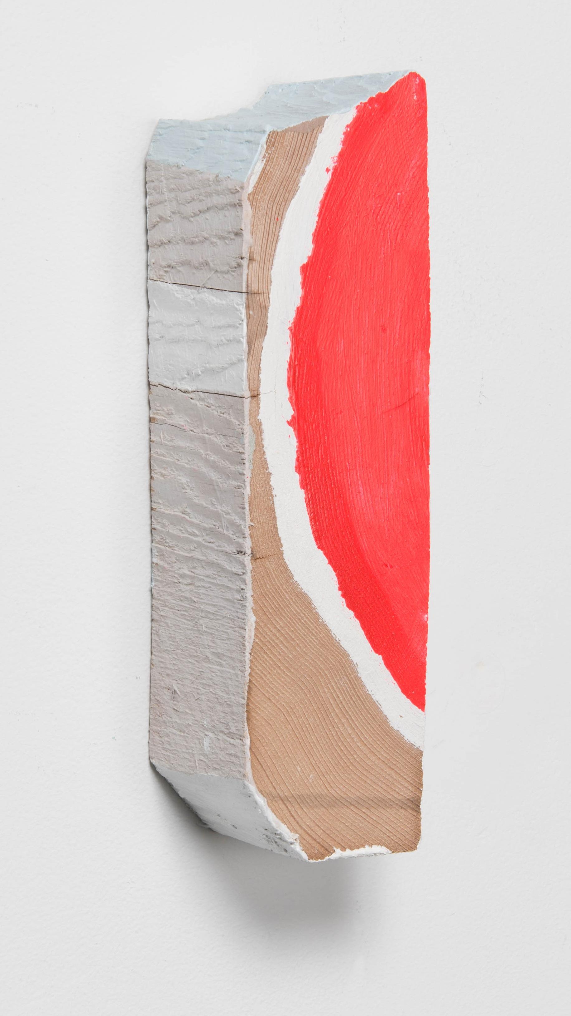 Slice Left , 2018  Acrylic and enamel on wood  9 x 2 1/2 x 2 1/2 inches
