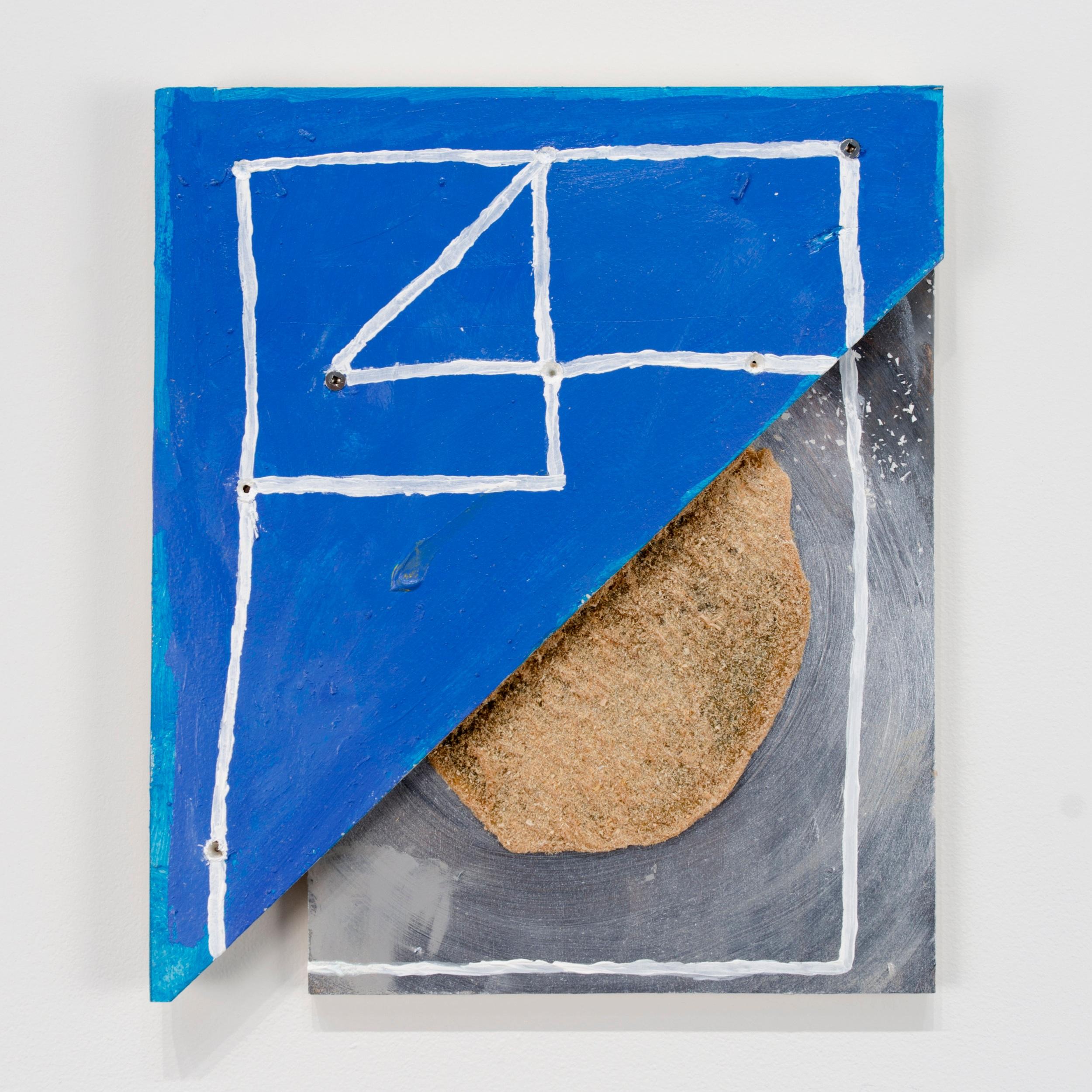 """40 , ""  2016  Acrylic, sawdust, and epoxy on wood  13 3/4 x 11 3/4 x 1 inches"