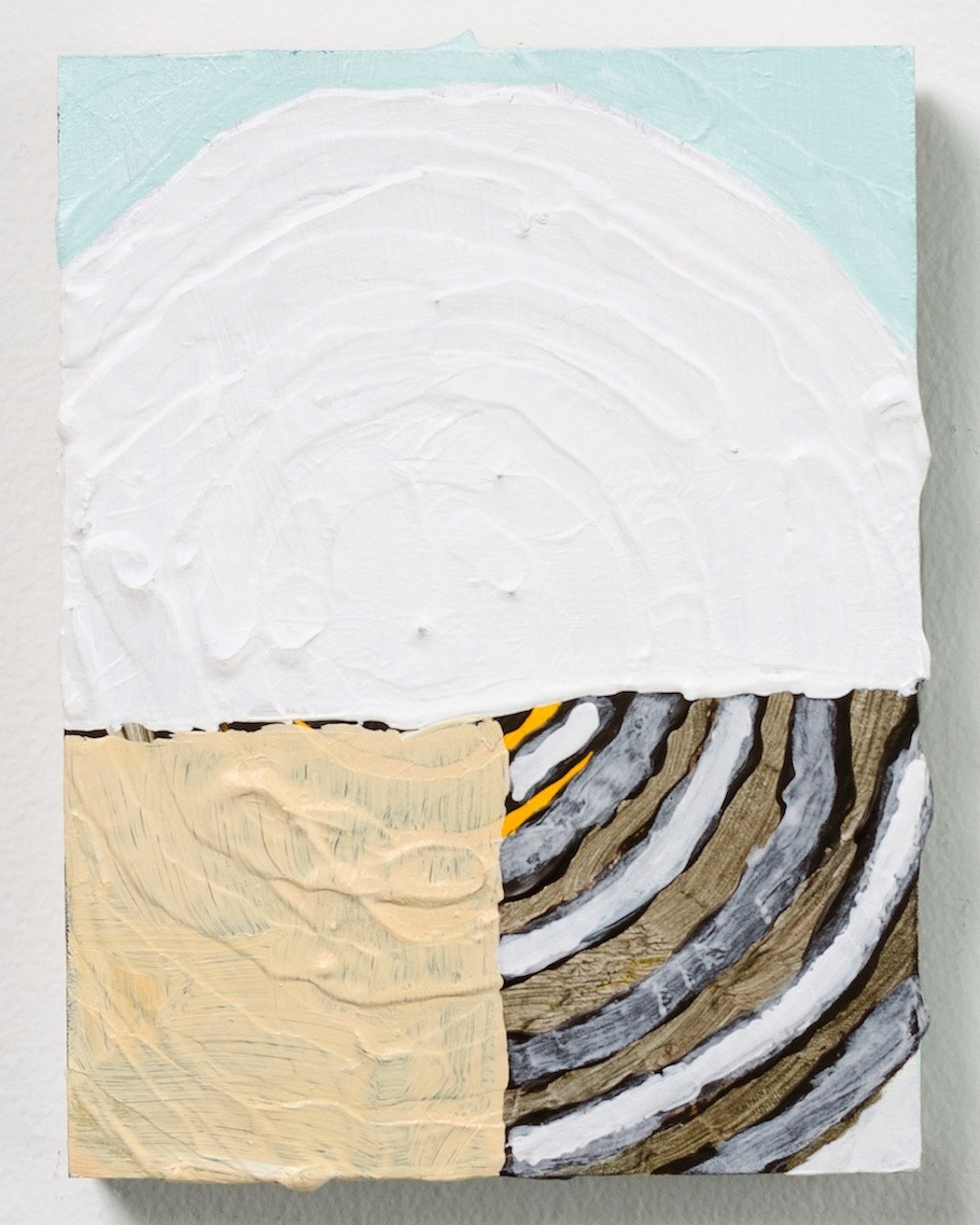 Existential Moon, 2016  Acrylic on wood  5 3/4 x 4 1/2 x 3/4 inches