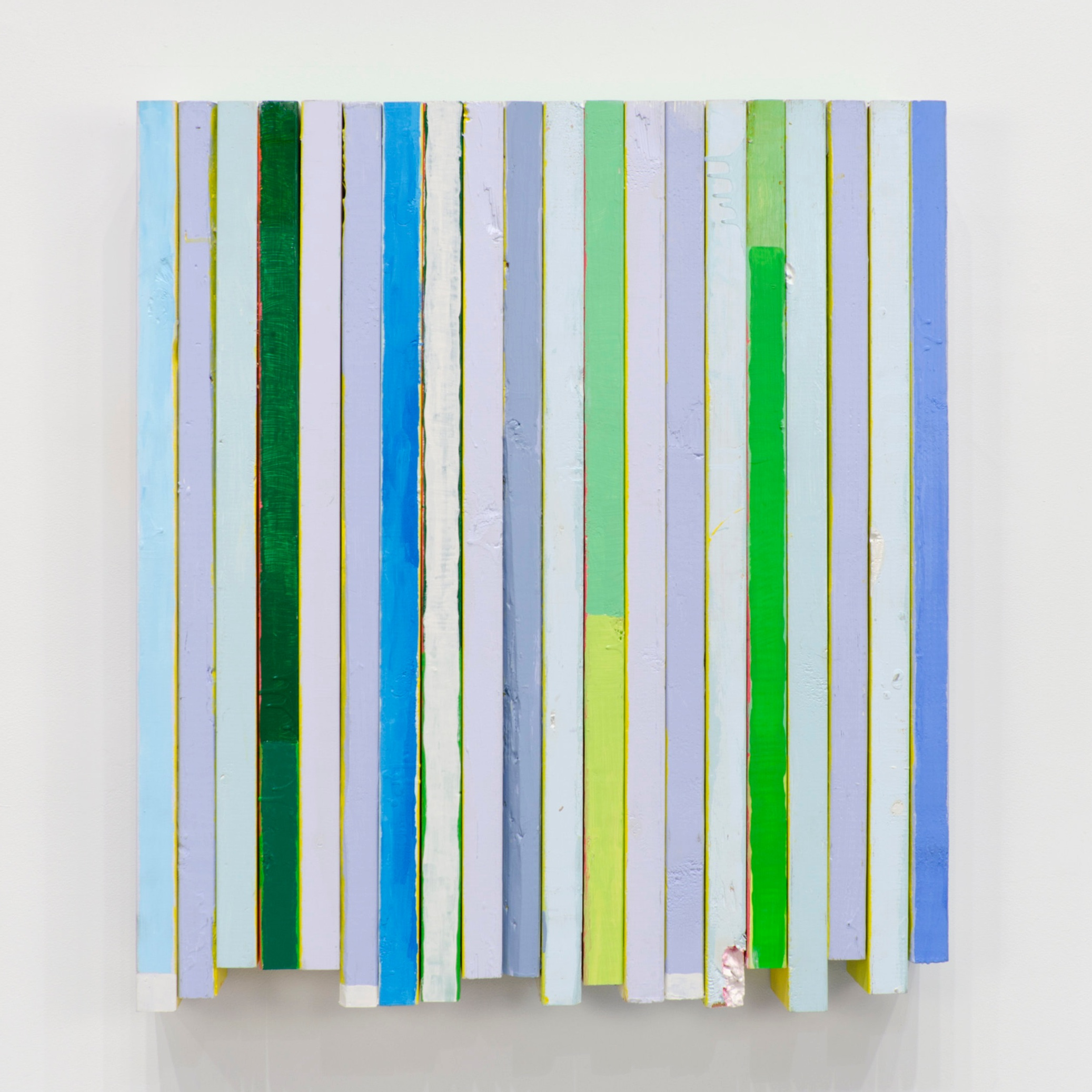 Wave Sandwich No. 2 , 2013  Acrylic on wood  34 x 30 1/2 x 4 inches