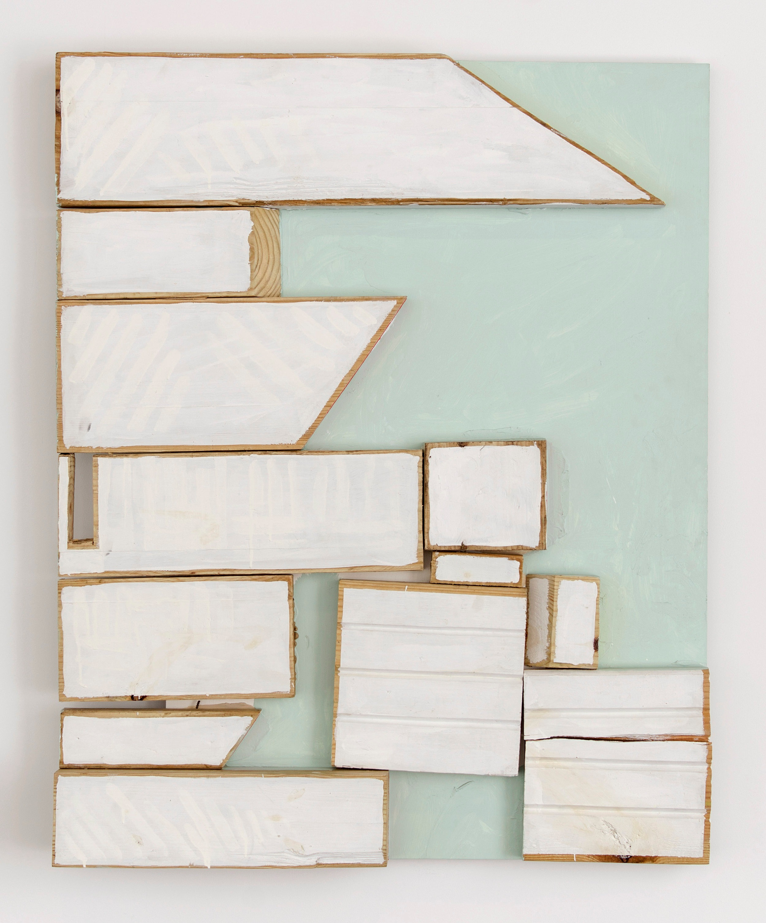 Hollywood , 2013  Acrylic and shellac on wood  48 x 38 1/4 x 4 3/4 inches