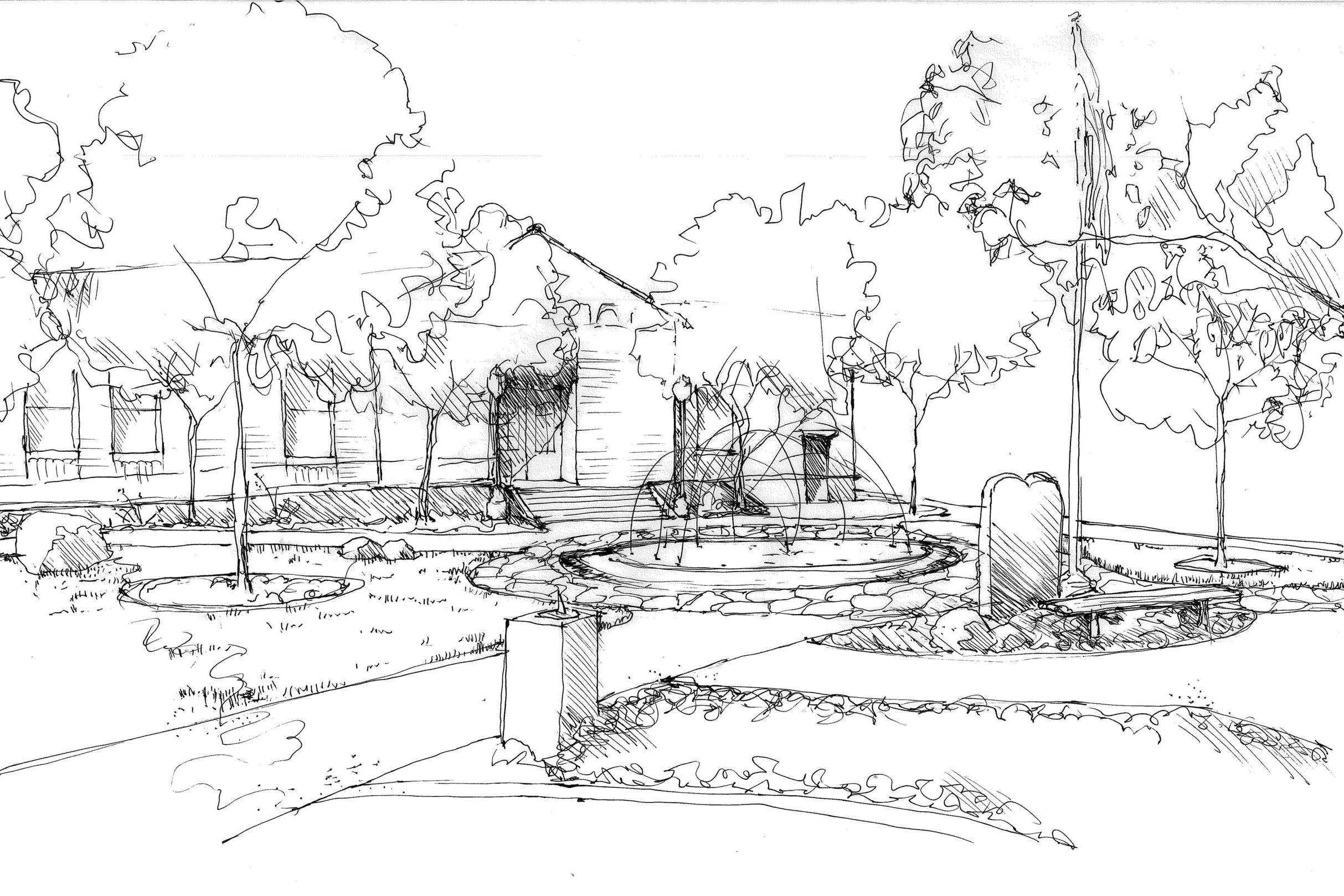 Fallon City Hall Fountain Sketches | Lumos, Inc