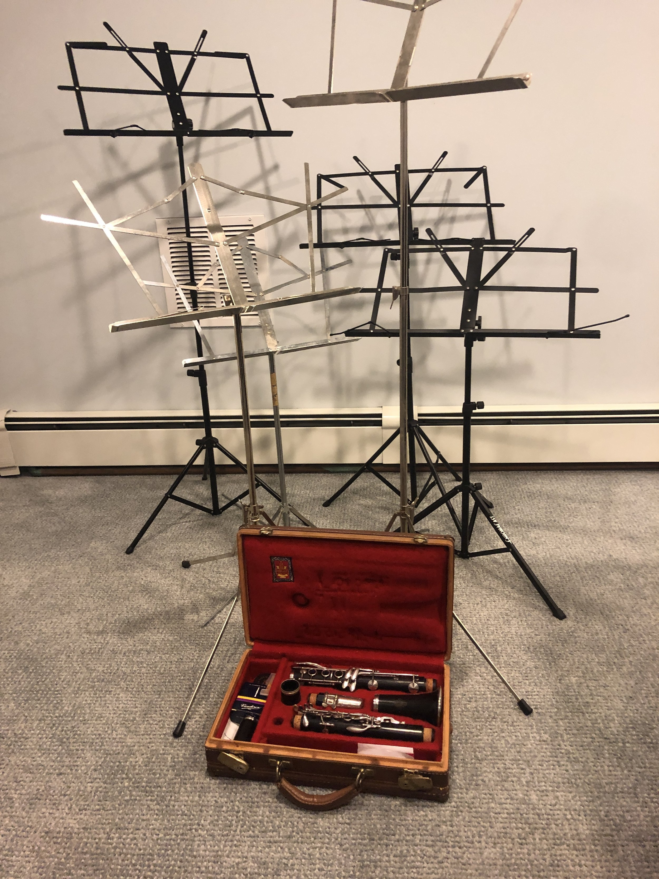 … all of these music stands! -