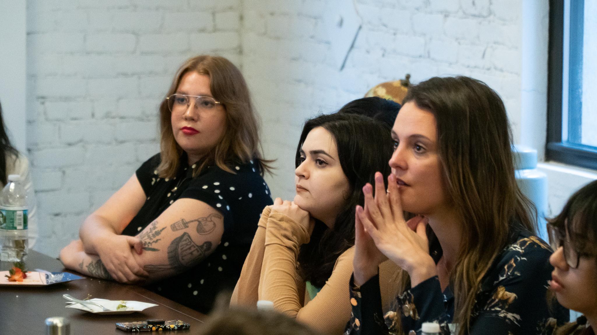 Publicist Chelsea Leibow, Alissa Medina of  Fembot , Estrella Jaramillo of  B-Wom .