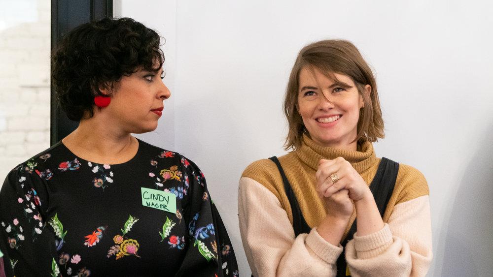 Cynthia Medina Carson at Powerbitches' May 2019 roundtable, Feminist Entrepreneurs Unite