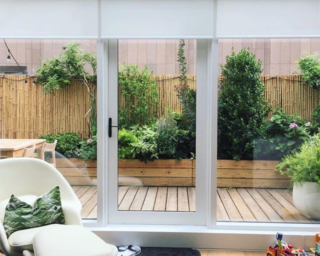 Sometimes the view from outside the garden is as important as the experience from within...(there's gotta be a metaphor in there). Here's a Tribeca garden from @designwildny  #urbangarden #gardensofnewyork #urbanforest #backyardgarden #innerview #designwild