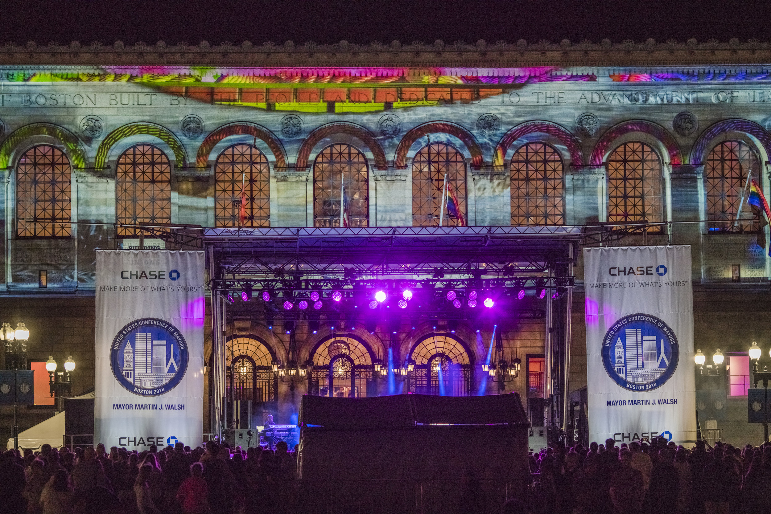Boston Public Library US Conference of Mayors Port Lighting Video Mapped Facade Copley Plaza Pointer Sisters Concert.jpg