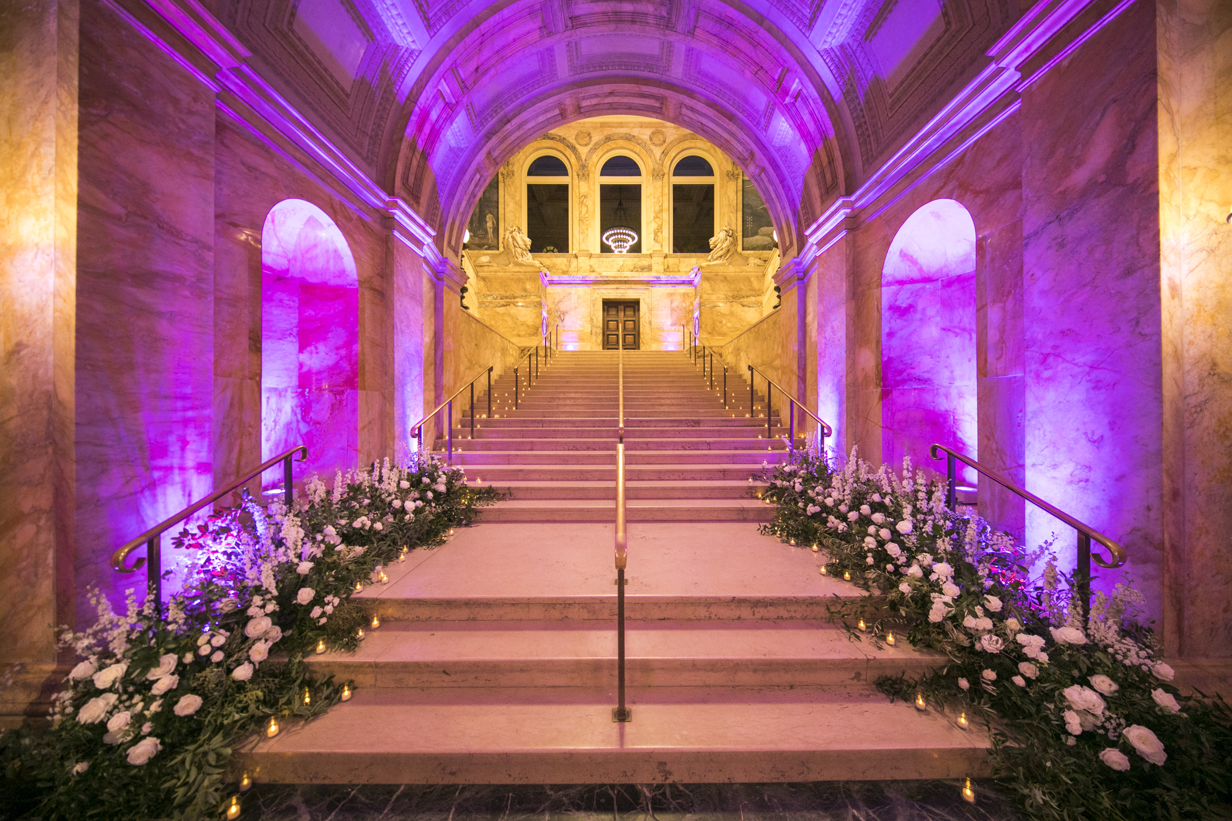 Boston Public Library Dramatic Archway Lighting Port Lighting Systems Rafanelli Events.jpg