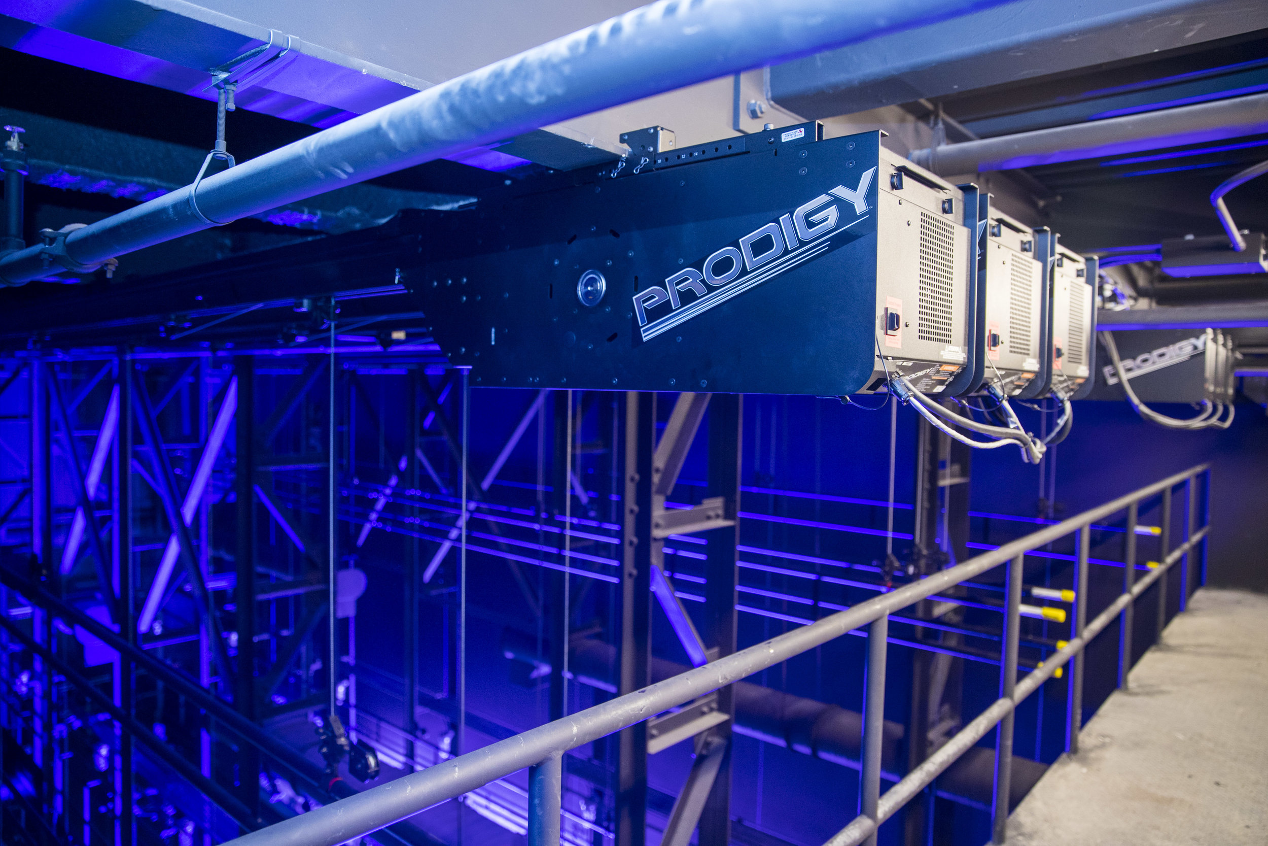 ETC Prodigy motorized hoists  in Phillips Exeter Academy's Mainstage Theater.