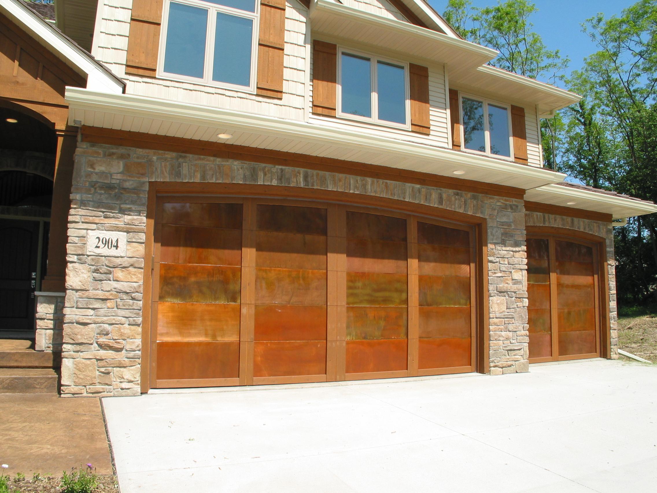 2 Copper Garage Doors with Cedar Trim.JPG