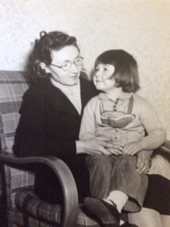 Me and my Mum in the 1950's