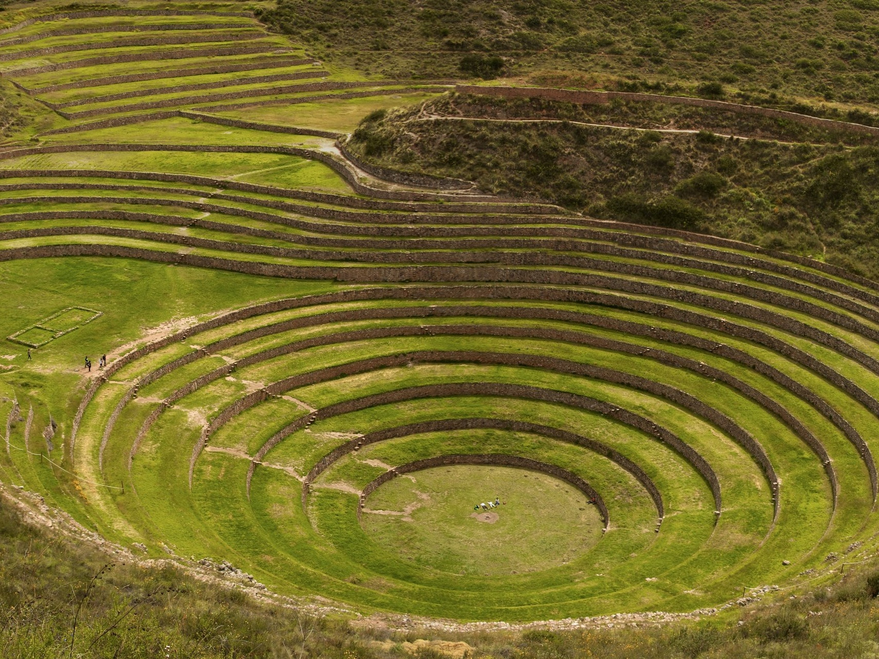 Visit The Ruins of Moray - Explore one of the more unusual Inca ruins - several huge, terraced, circular depressions, the largest of which is approximately 30 metres deep!