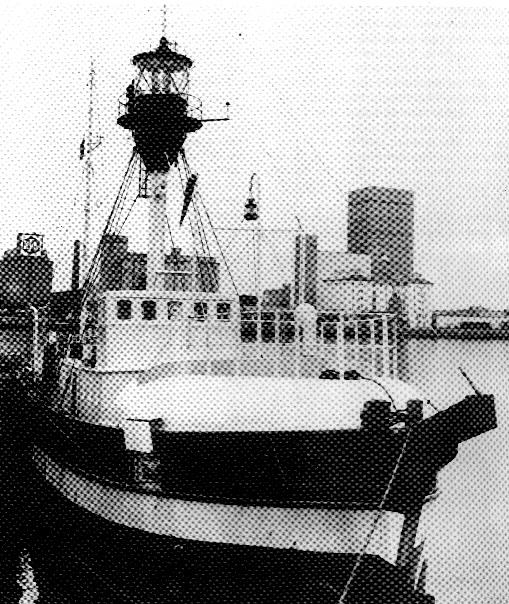 Motorfyrskib nr. 1 i Esbjerg Havn omkring 1980. Foto: Byhistorisk Arkiv, Esbjerg.