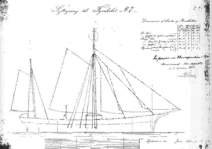 Sejltegning til fyrskib nr.VII - kan ses under tegninger.