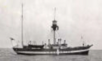 Fyrskib no: IX på poition Læsø Rende.
