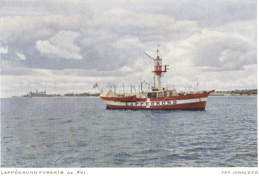 Fyrskib no: XVI på position Lappegrund.Foto: Jonals.co