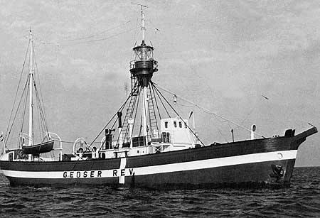 Fyrskib no: XVII på position Gedser Rev. ca:1948