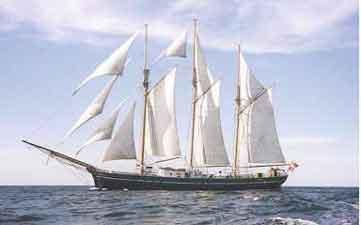 Das als Dreimaster getakelte, ehemalige Feuerschiff XVIII, «Den Store Bjørn»