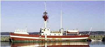 Das Feuerschiff auf seiner heutigen Position in Ebeltoft