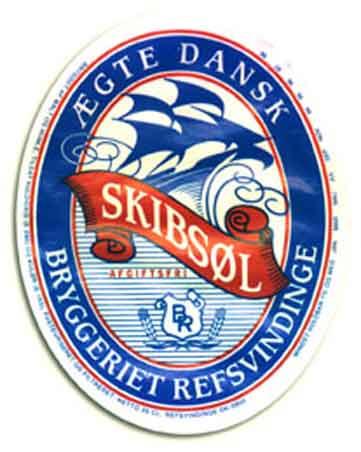 Die Etikette des Schiffsbiers (SKIBSØL)