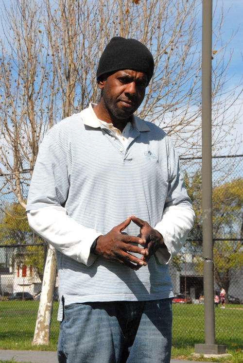 Ernest - After being incarcerated for most of his life, Ernest was recently paroled. He was hanging out in his old neighborhood when his friend encouraged him to visit the SOS van to pick up some hygiene supplies, over the counter medications, and a snack. Upon his release, the county jail set him up with basic medical coverage and a primary care clinic but Ernest was welcomed by our team to use SOS for urgent and preventive care when he can't get in to see his regular doctor. (Photo credit: Marlena Hartman-Filson)