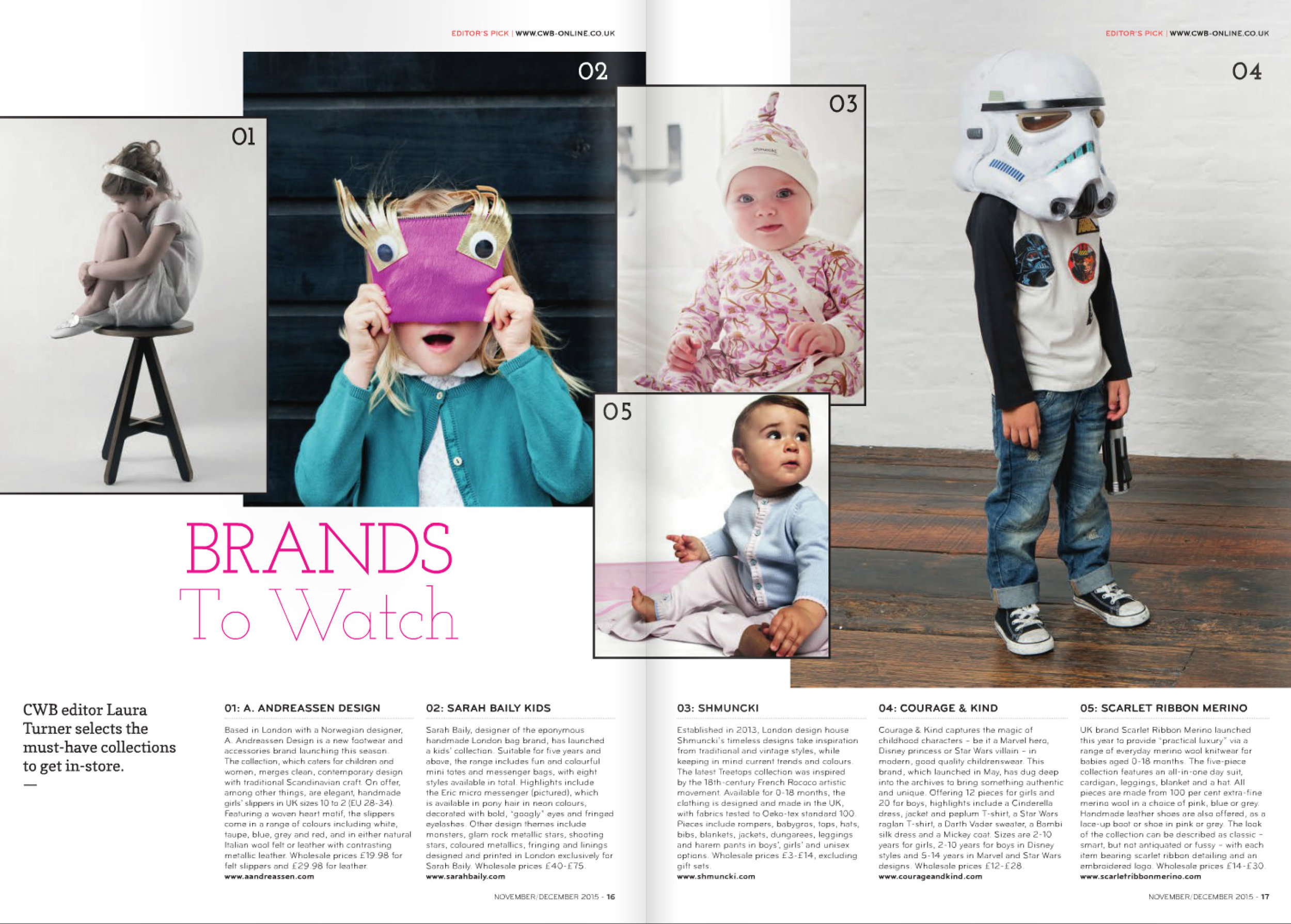 Brands to Watch -CWB Magazine - 2015