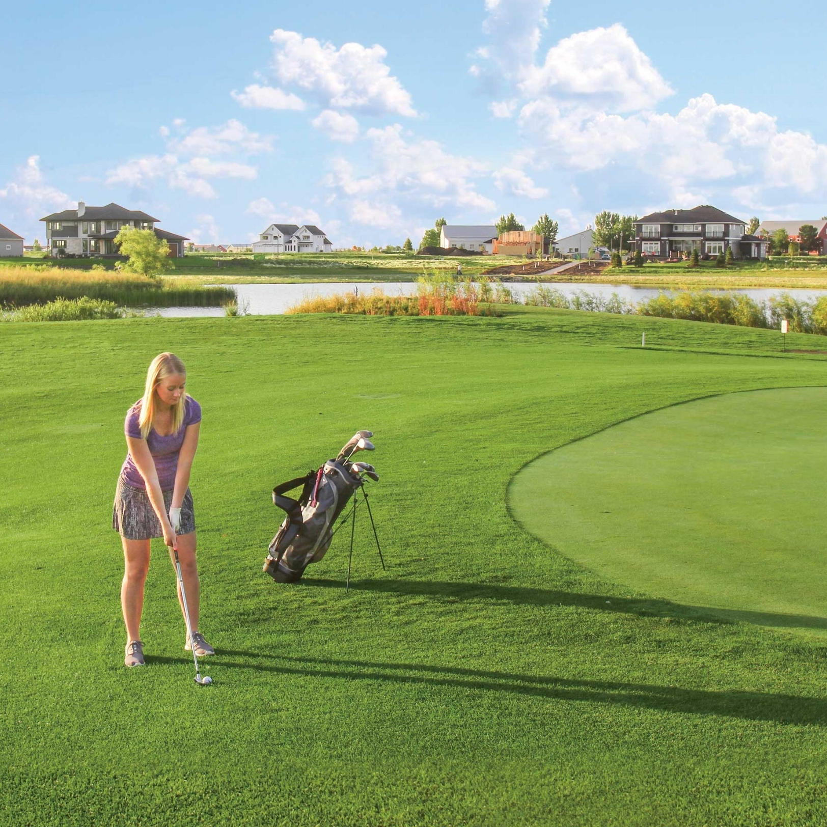 Osgood Golf Course - Premium lots with pond and golf course views.