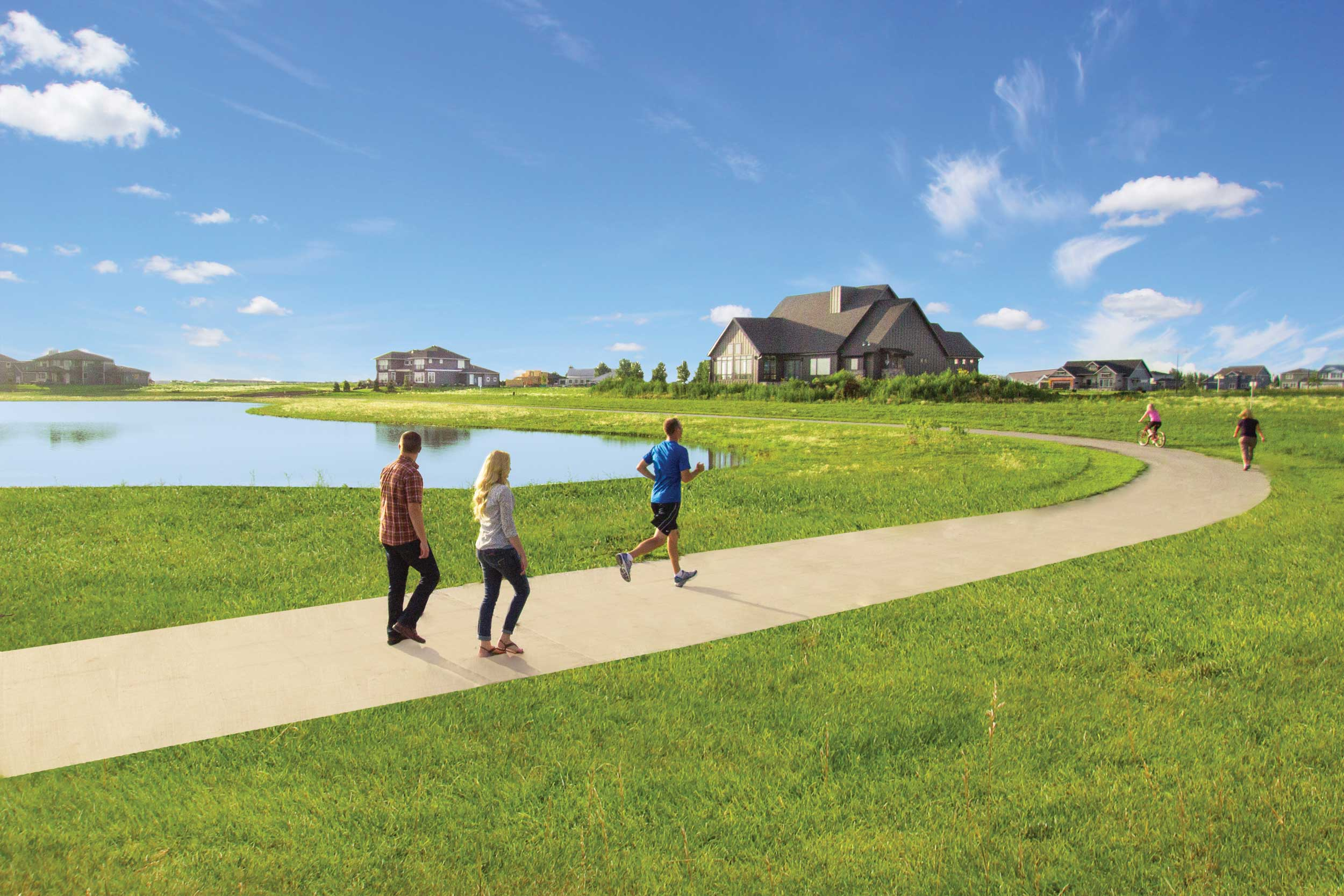 Recreational Trails - These trails wrap around a beautiful wildlife pond that opens up into Osgood Golf Course. There are two trail access pocket parks, as well, which are managed by the Homeowners Association (HOA).