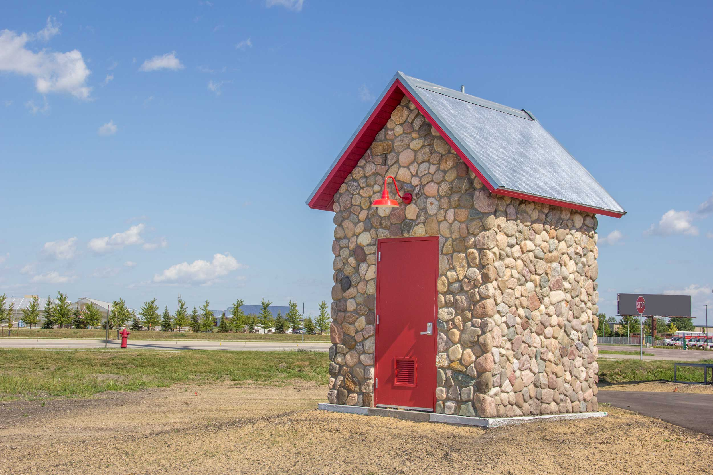 Minnkota Power Control - Most developments have electric power control buildings that look like...well, power control buildings. We designed a