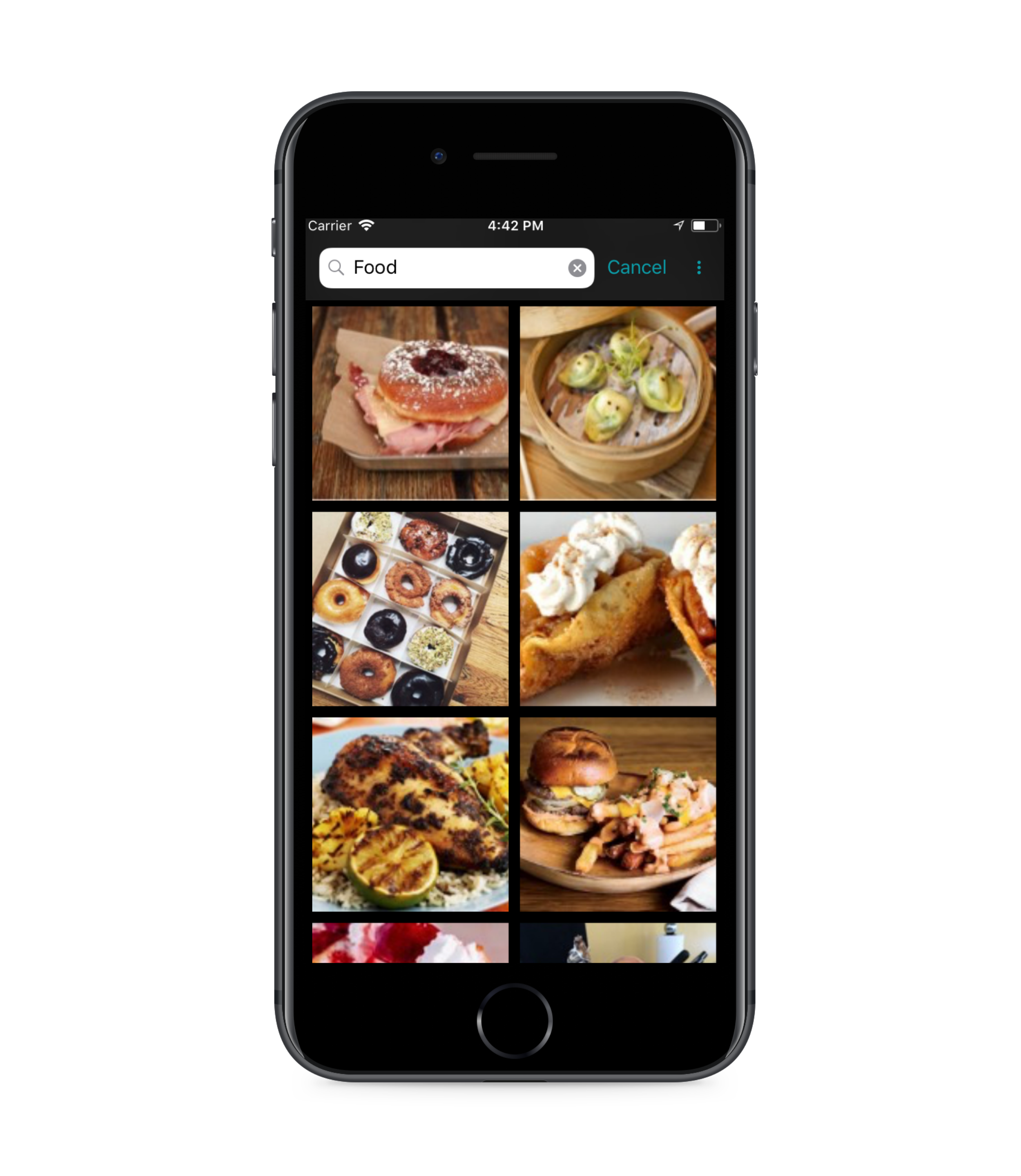 Quickly Find Photos - Retana has powerful photo search capability so you never have to hunt through the camera roll. Search across objects, text, tags, and location to make finding what you need easy and fast.