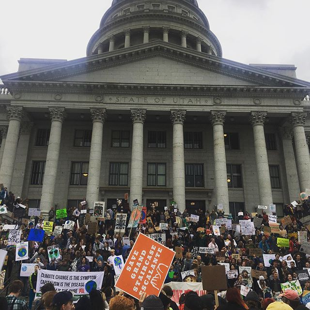 Salt Lake Climate strike, ongoing despite a solid threat of rain